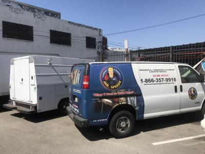 beverly hills plumbing truck