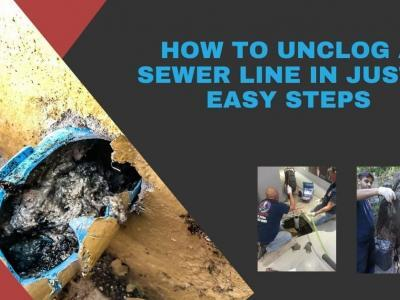 How to unclog sewer line in just 4 easy steps